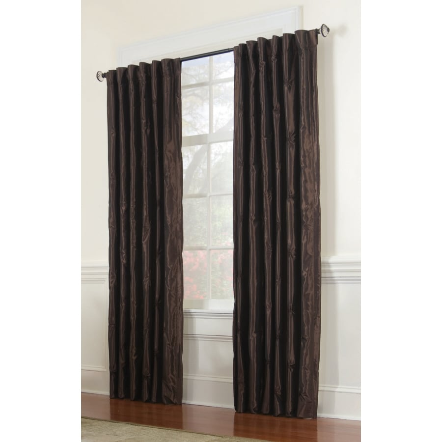 Allen Roth Belleville 84 In Chocolate Polyester Back Tab Room Darkening Single Curtain Panel