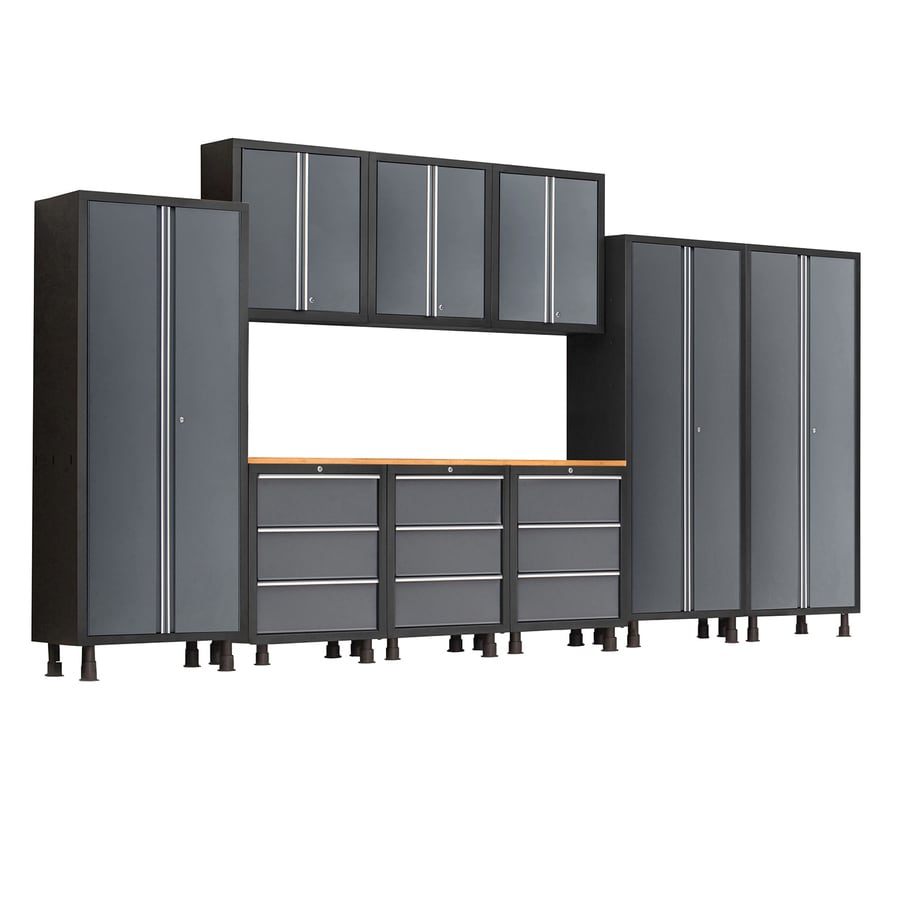 NewAge Products Bold 168 In W X 72 In H Gray Steel Garage Storage