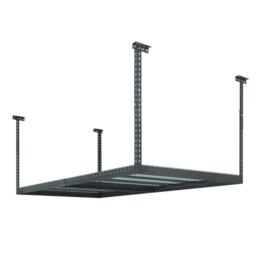 shelving pd d gray steel x at in shop w garage kobalt overhead storage