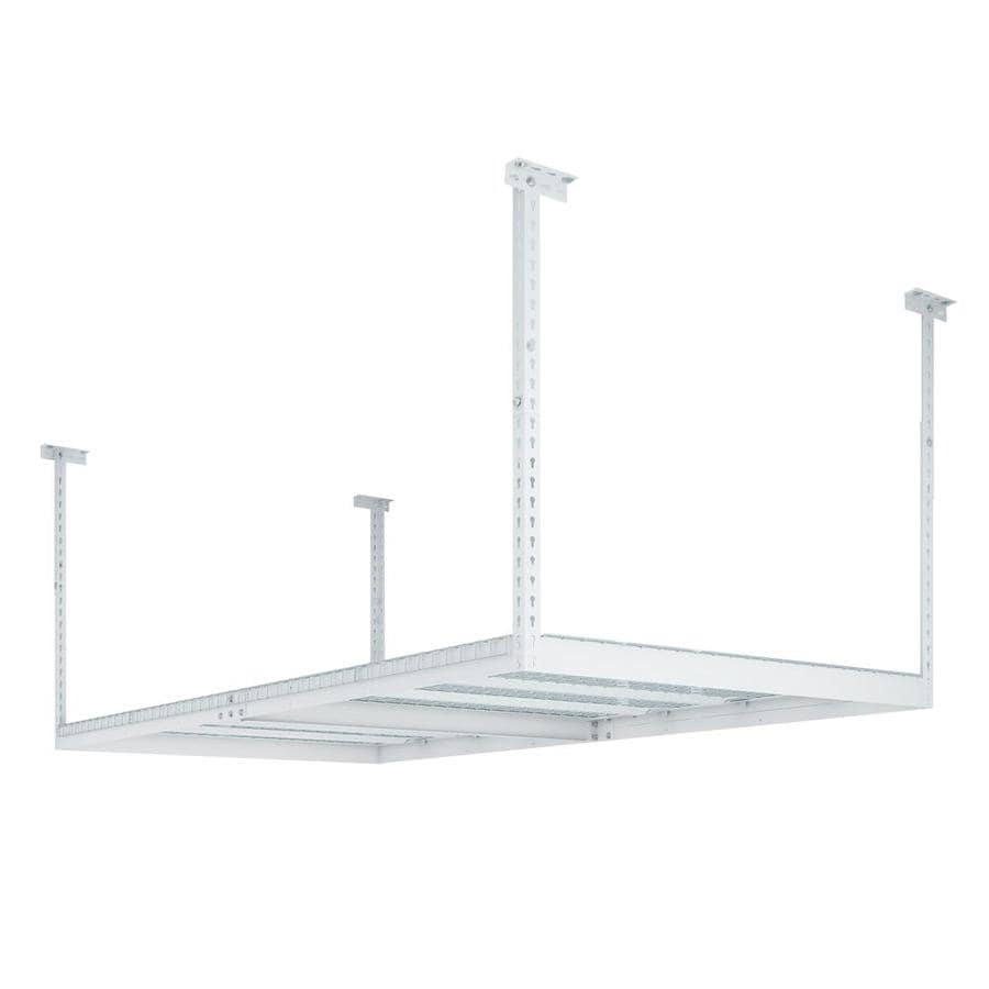 Perfect NewAge Products VersaRac 96 In W X 48 In D White Steel Overhead Garage