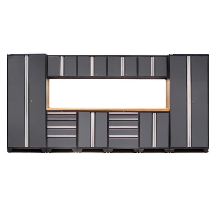 NewAge Products Bold 3 156-in W x 77-in H Steel Garage Storage System