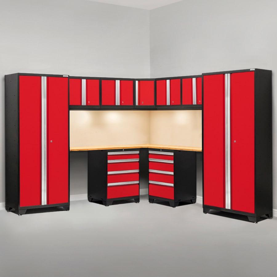 NewAge Products Bold 3 99-in W x 77-in H Steel Garage Storage System