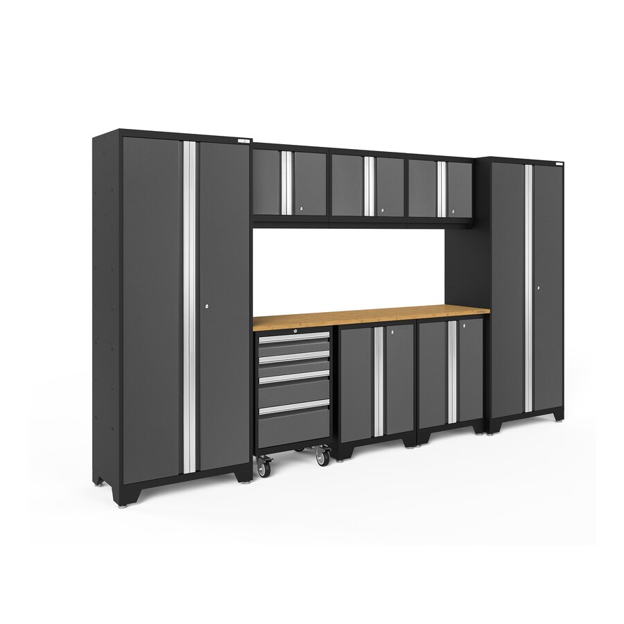 Top 70 Best Garage Cabinet Ideas: NewAge Products Bold 3.0 132-in W X 77.25-in H Charcoal