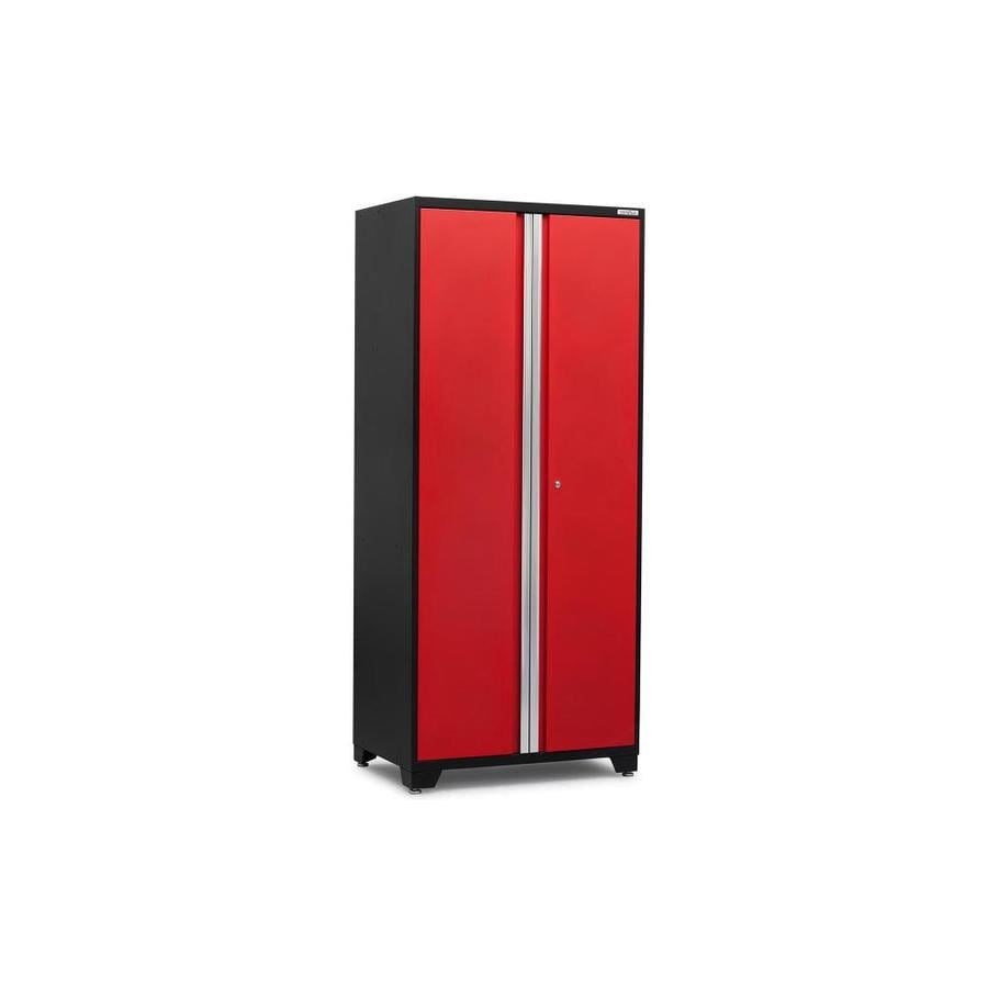 NewAge Products Pro 3.0 36-in W x 84-in H x 24-in D Jet Black Frames with Deep Red Doors Steel Full Storage Lockers
