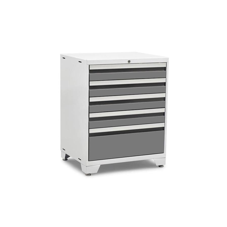 NewAge Products Pro 3.0 37-in x 28-in 5-Drawer Ball-Bearing Steel Tool Cabinet (Silver)