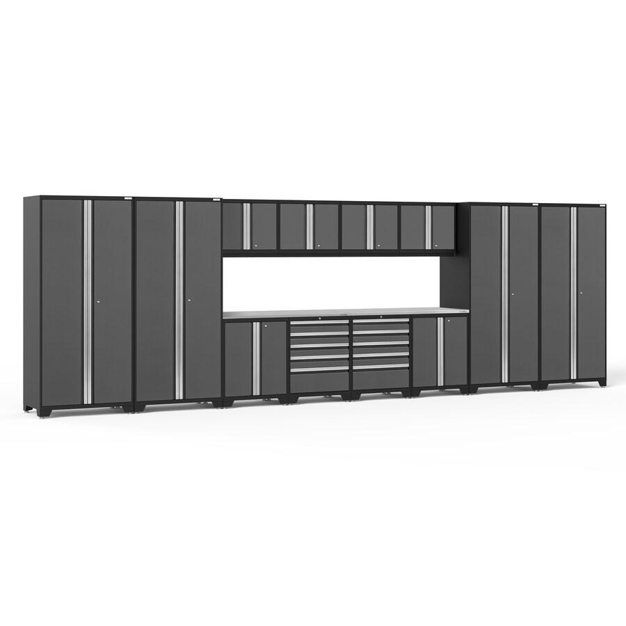 NewAge Products Pro 3 184-in W x 85.25-in H Platinum Steel Garage Storage System