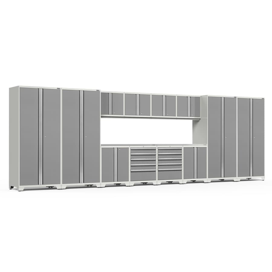 NewAge Products Pro 3 156-in W x 85.25-in H Charcoal Gray Steel Garage Storage System