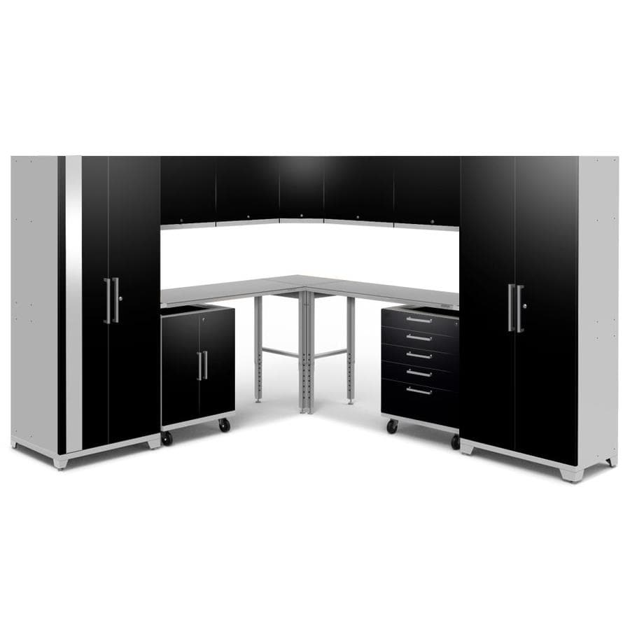 NewAge Products Performance Plus 2 213-in W x 80-in H Gloss Black Steel Garage Storage System