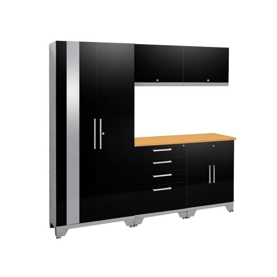 NewAge Products Performance 2.0 78.0 W x 72.0 H Gloss Black Steel Garage Storage System