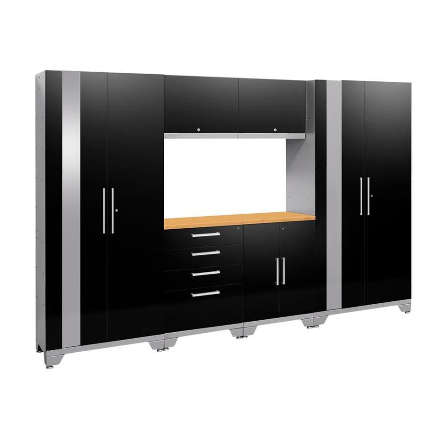 NewAge Products Performance 2.0 108.0 W x 72.0 H Gloss Black Steel Garage Storage System