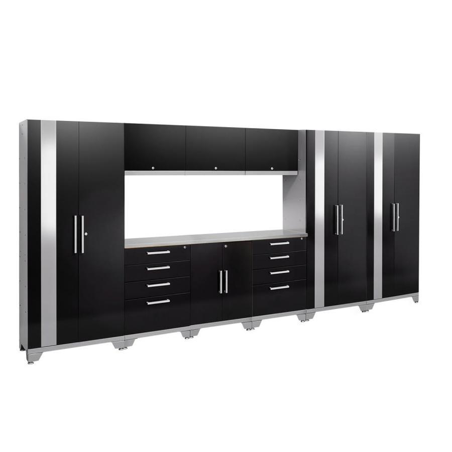 NewAge Products Performance 2.0 162.0 W x 72.0 H Gloss Black Steel Garage Storage System