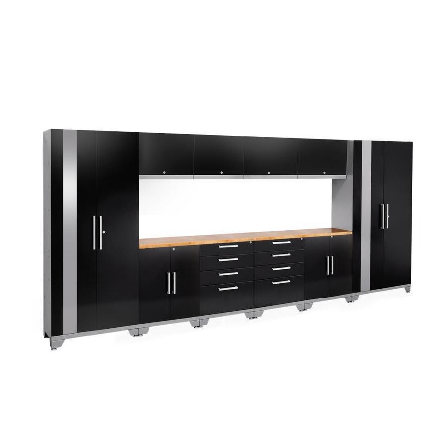 NewAge Products Performance 2.0 156.0 W x 72.0 H Gloss Black Steel Garage Storage System