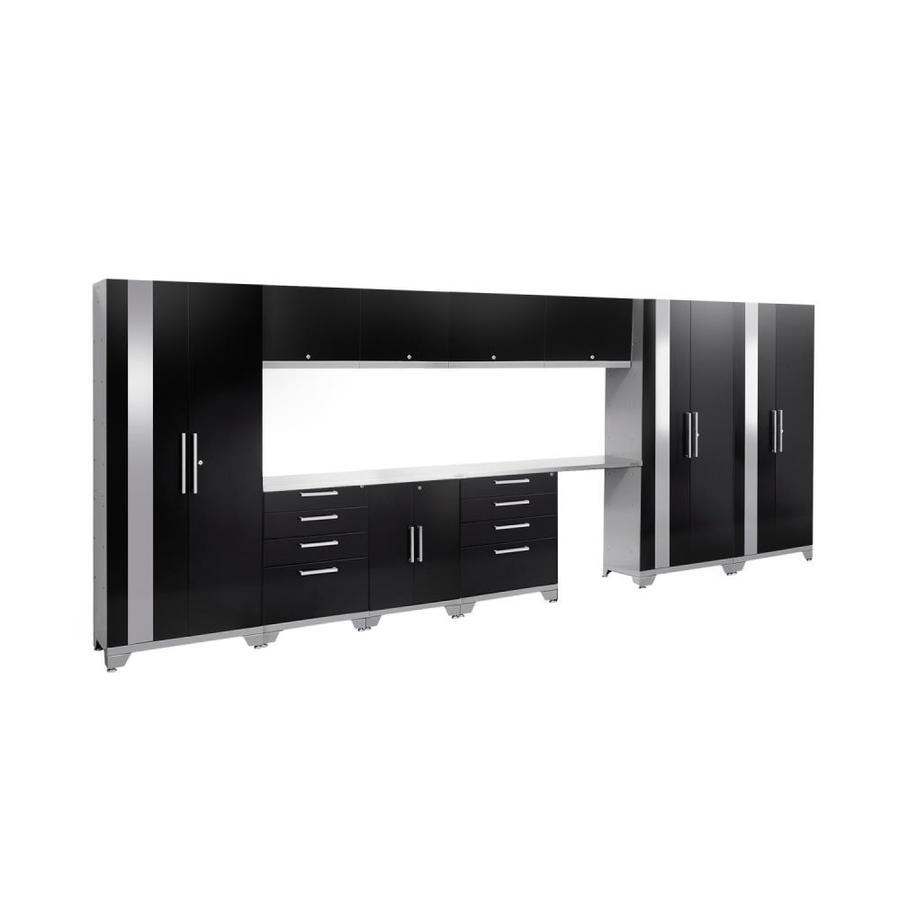 NewAge Products Performance 2.0 186.0 W x 72.0 H Gloss Black Steel Garage Storage System