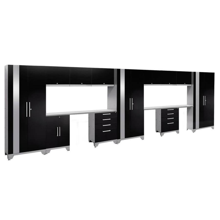 NewAge Products Performance 2.0 234.0 W x 72.0 H Gloss Black Steel Garage Storage System