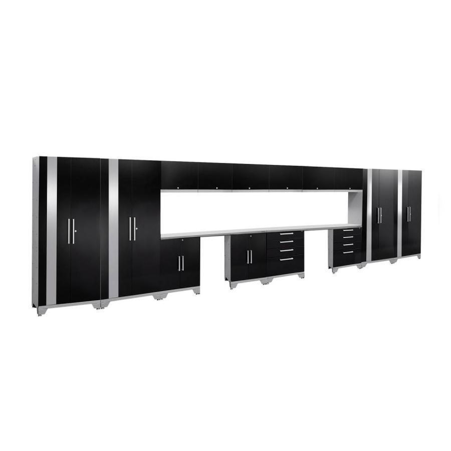 NewAge Products Performance 2.0 264.0 W x 72.0 H Gloss Black Steel Garage Storage System