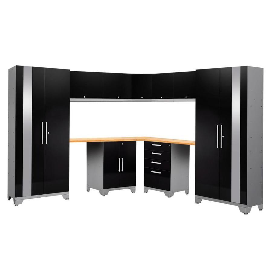 NewAge Products Performance 2.0 177.0 W x 72.0 H Gloss Black Steel Garage Storage System