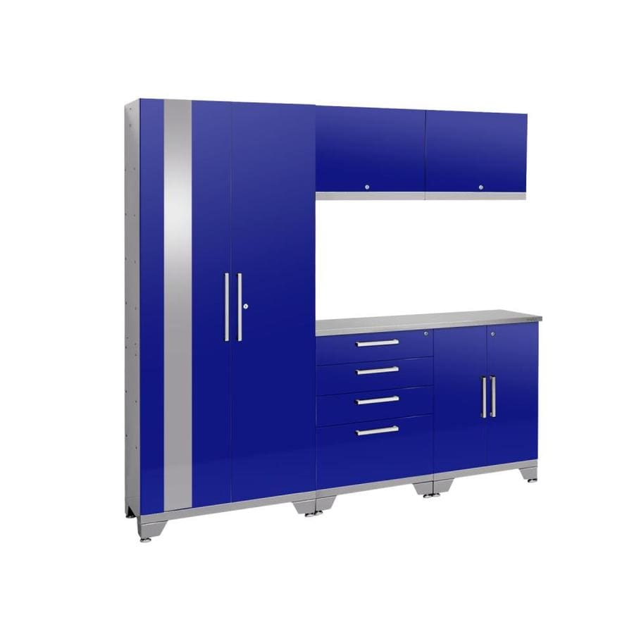 NewAge Products Performance 2.0 78.0 W x 72.0 H Gloss Blue Steel Garage Storage System