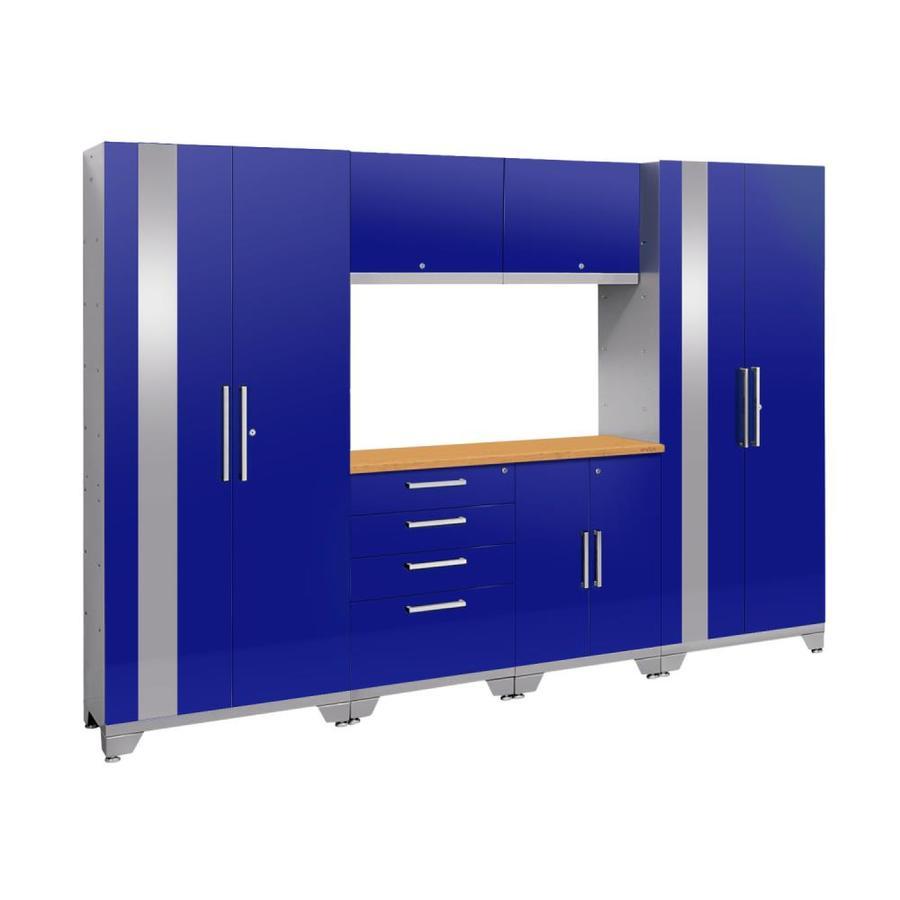 NewAge Products Performance 2.0 108.0 W x 72.0 H Gloss Blue Steel Garage Storage System