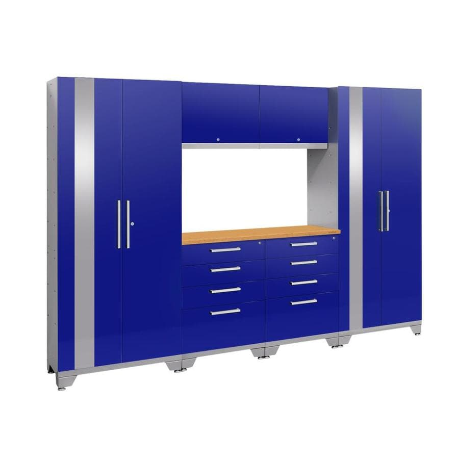 NewAge Products Performance 2.0 108.0 W x 72.0 H Gloss Blue Steel Garage Storage System