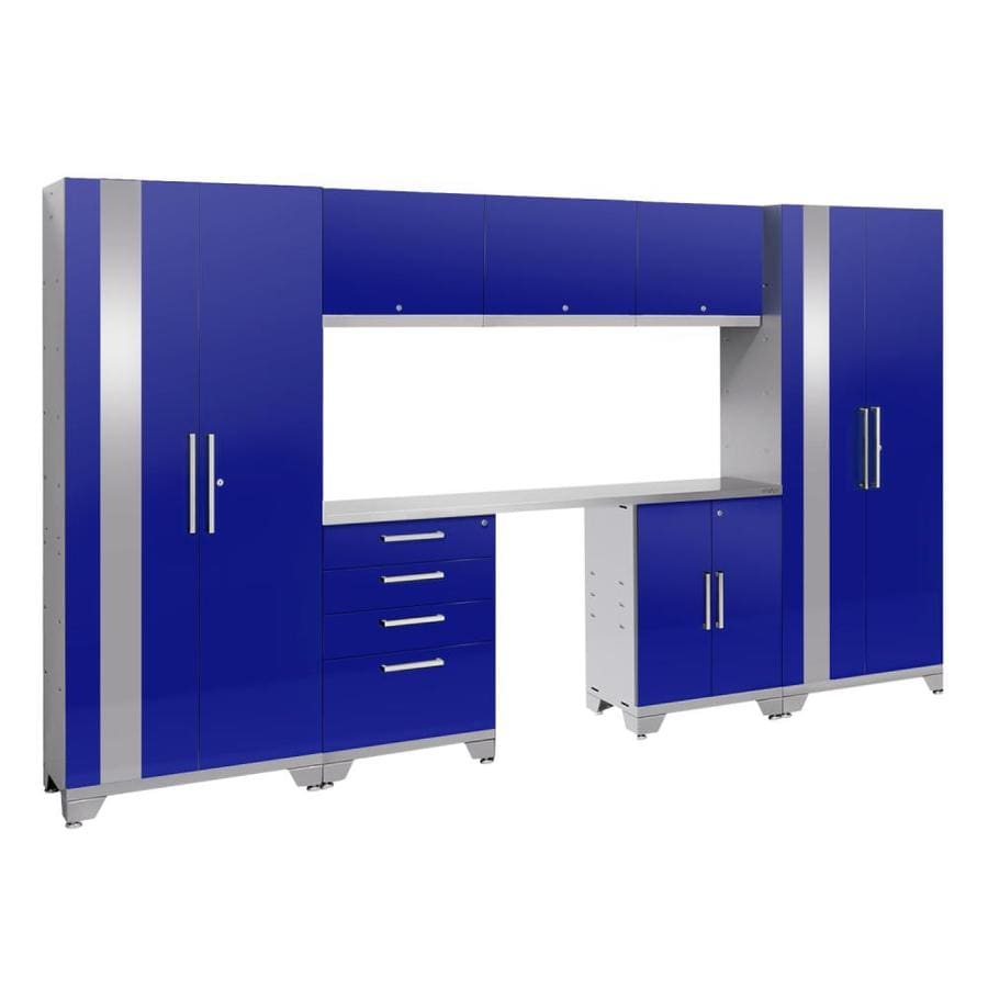 NewAge Products Performance 2.0 132.0 W x 72.0 H Gloss Blue Steel Garage Storage System