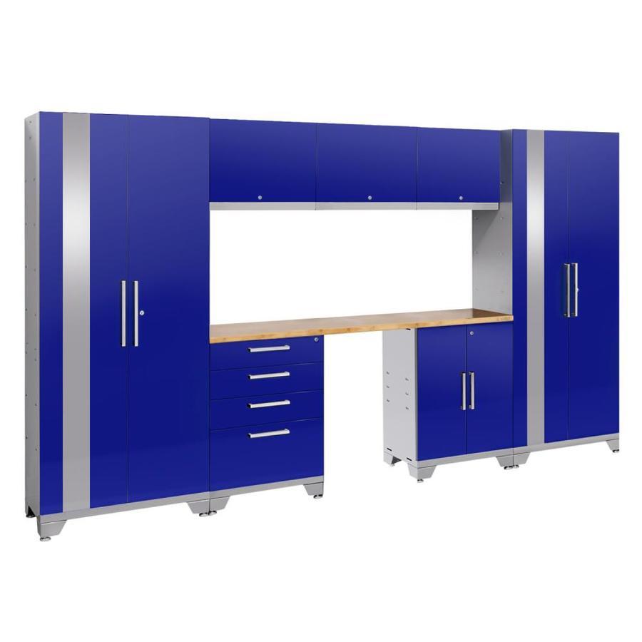NewAge Products Performance 2.0 132.0 W x 72.0 H Gloss Blue Steel Garage Storage System