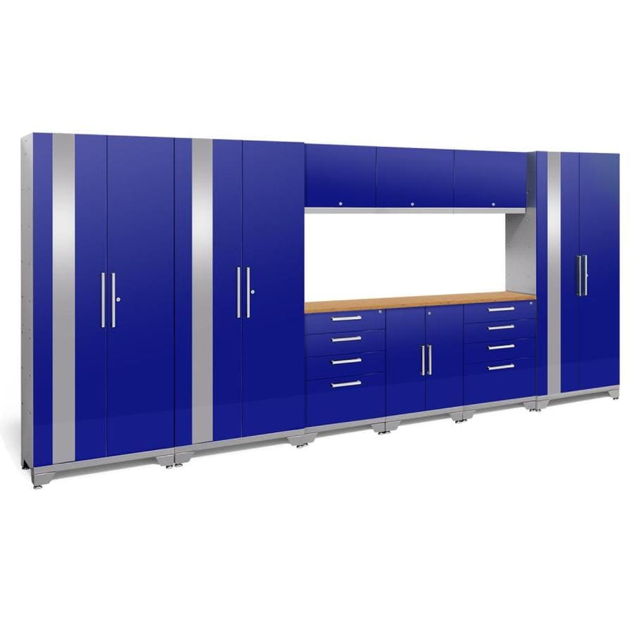 NewAge Products Performance 2.0 162.0 W x 72.0 H Gloss Blue Steel Garage Storage System