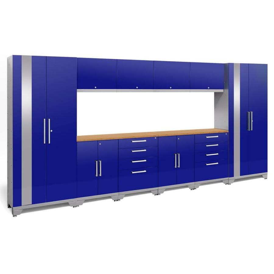 NewAge Products Performance 2.0 156.0 W x 72.0 H Gloss Blue Steel Garage Storage System