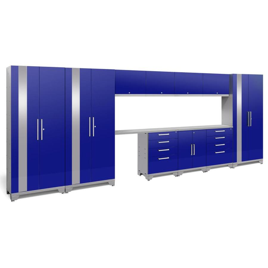 NewAge Products Performance 2.0 186.0 W x 72.0 H Gloss Blue Steel Garage Storage System