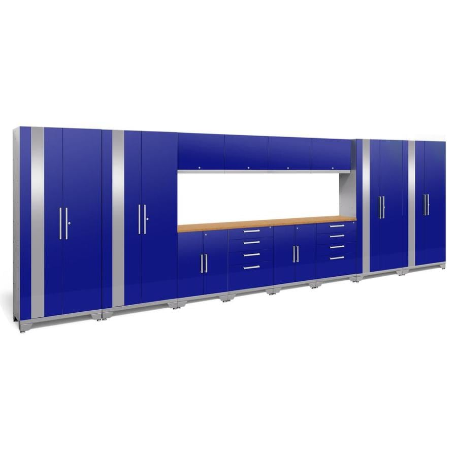 NewAge Products Performance 2.0 216.0 W x 72.0 H Gloss Blue Steel Garage Storage System