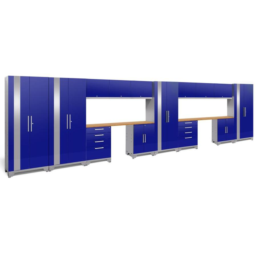 NewAge Products Performance 2.0 264.0 W X 72.0 H Gloss Blue Steel Garage  Storage System