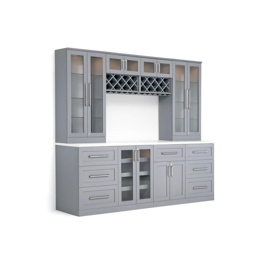 Newage Products Home Bar 96 In X 85 In Rectangle Cabinet Bar At