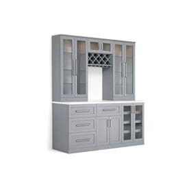 NewAge Products Home Bar 72 In X 85 In Rectangle Cabinet Bar