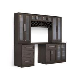 NewAge Products Home Bar 96 In X 85 In Rectangle Cabinet Bar