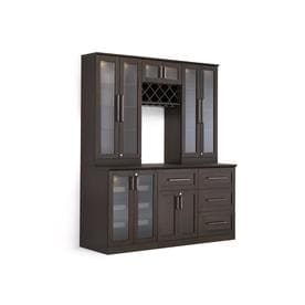 Newage Products Home Bar 72 In X 85 Brown Rectangle Cabinet