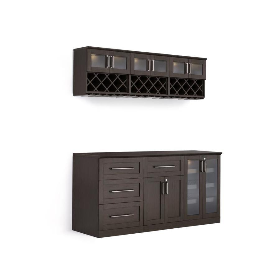 Newage Products Home Bar 72 In X 85 In Rectangle Cabinet Bar At