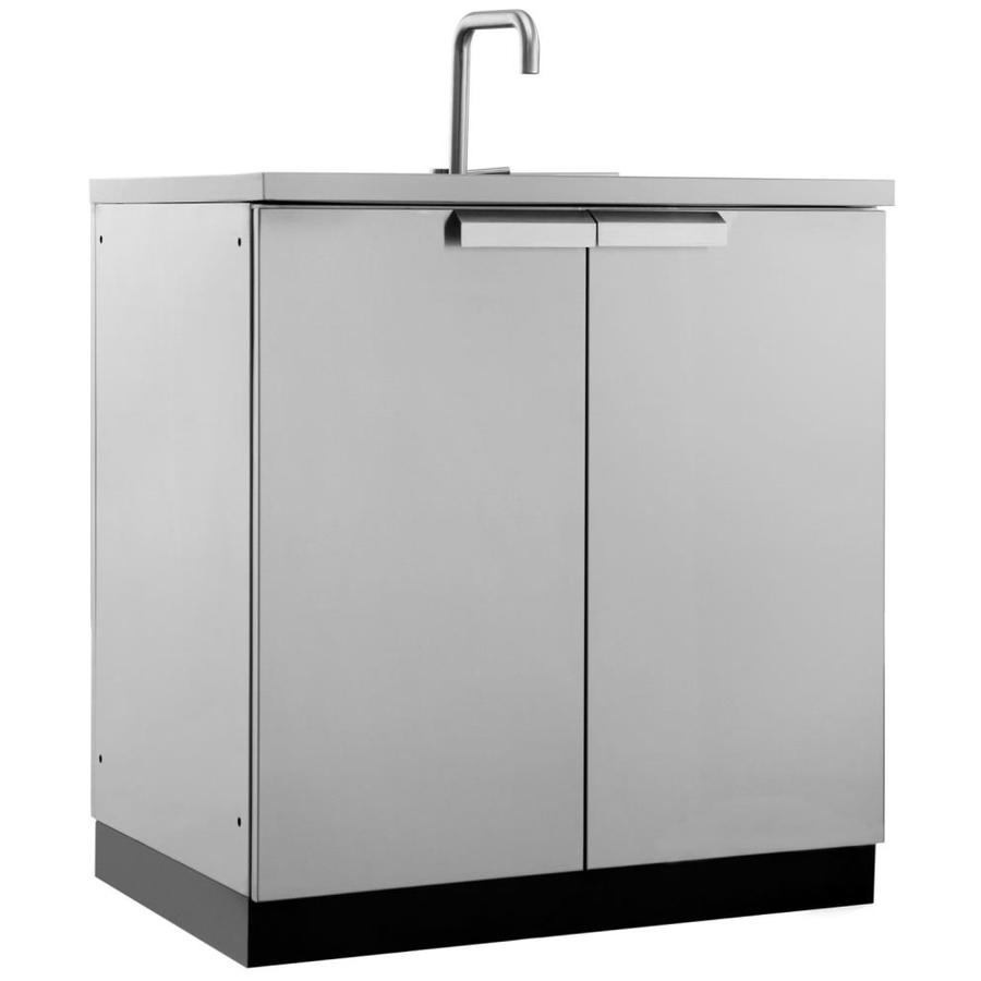 Stainless Steel Modular Kitchen Cabinets: Shop NewAge Products Modular Outdoor Kitchen Prep Station