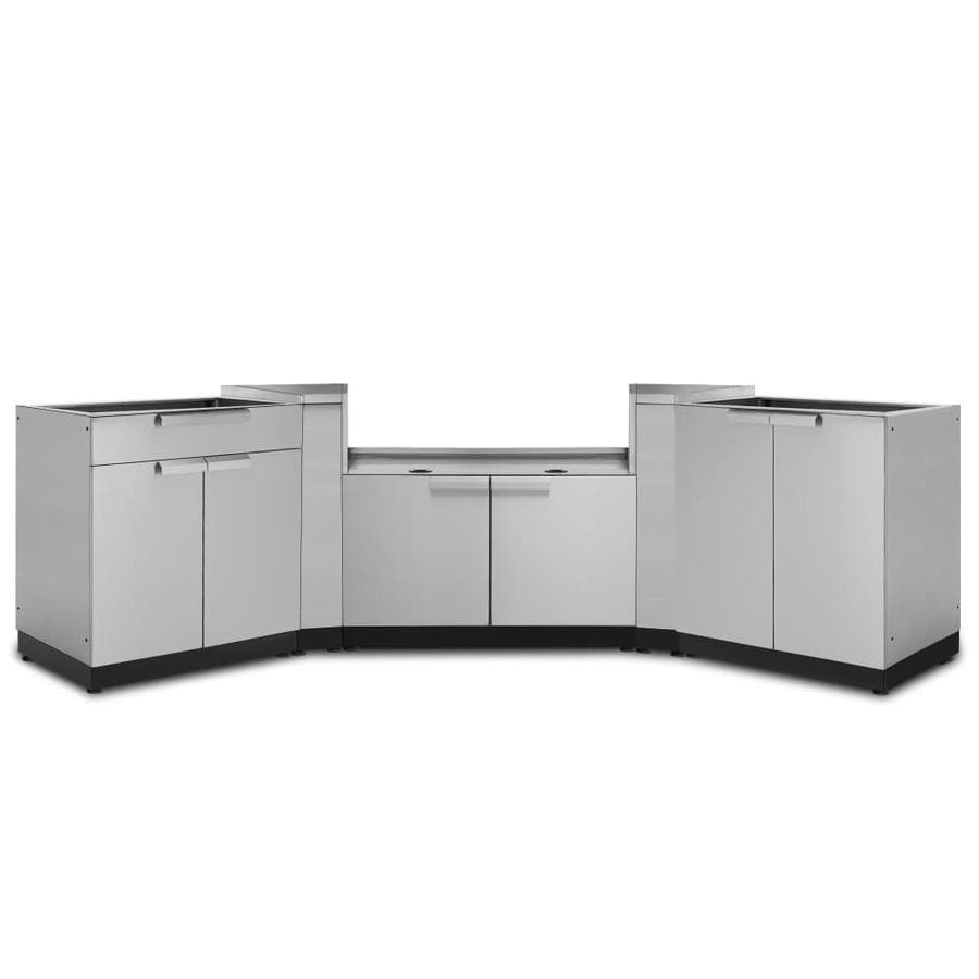 Stainless Steel Modular Kitchen Cabinets: Shop NewAge Products Modular Outdoor Kitchen Modular Prep