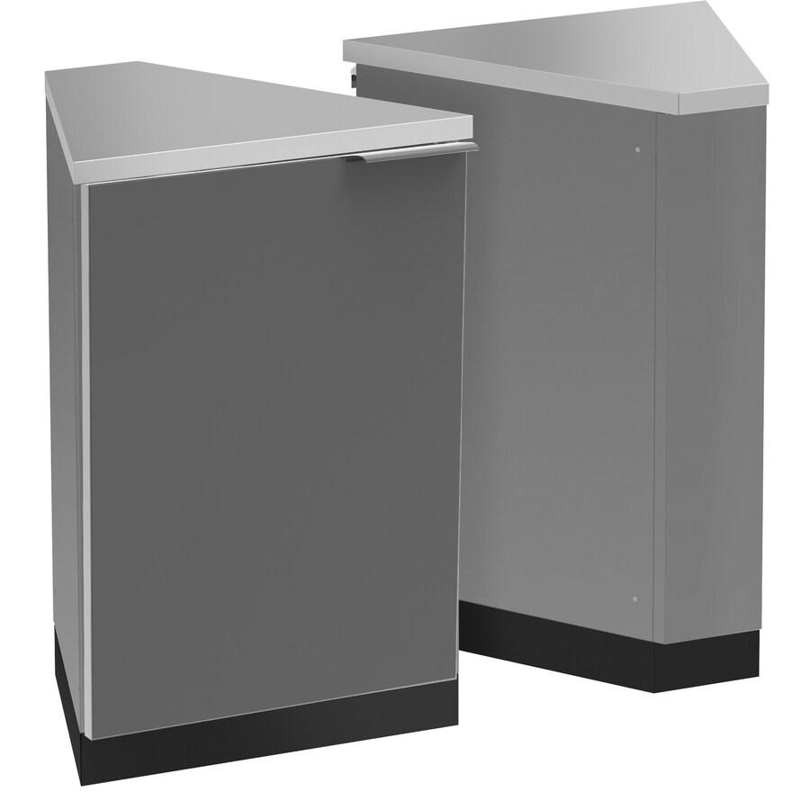 NewAge Products Outdoor Kitchen Aluminum Alloy 45° Corner Cabinet Aluminum Alloy