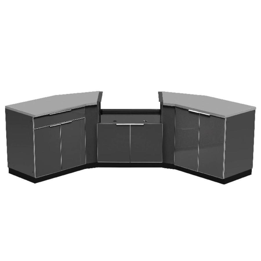 NewAge Products Outdoor Kitchen Aluminum Alloy 154-inW x 24-inD 7 PC Set