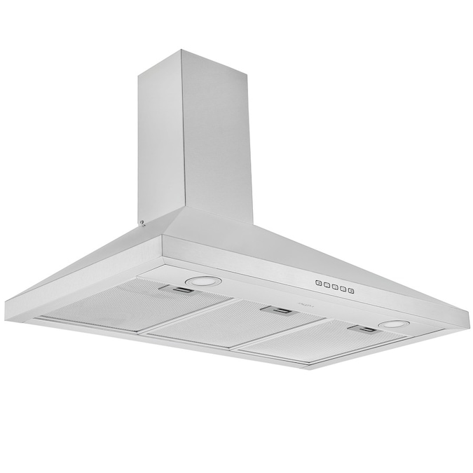 Ancona 36 In Convertible Stainless Steel Wall Mounted Range Hood In The Wall Mounted Range Hoods Department At Lowes Com