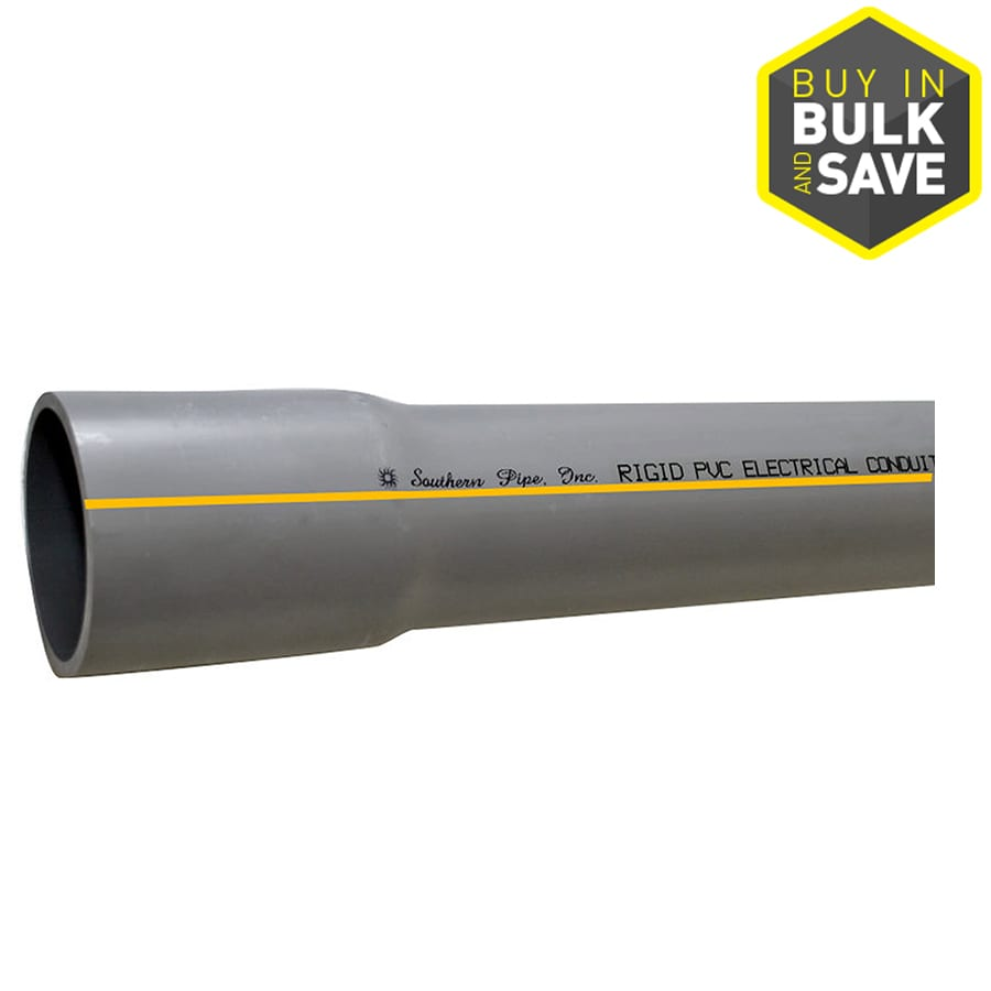 Southern Pipe Non-Metallic PVC 10-ft Conduit (Common: 3-in; Actual: 3.50-in)