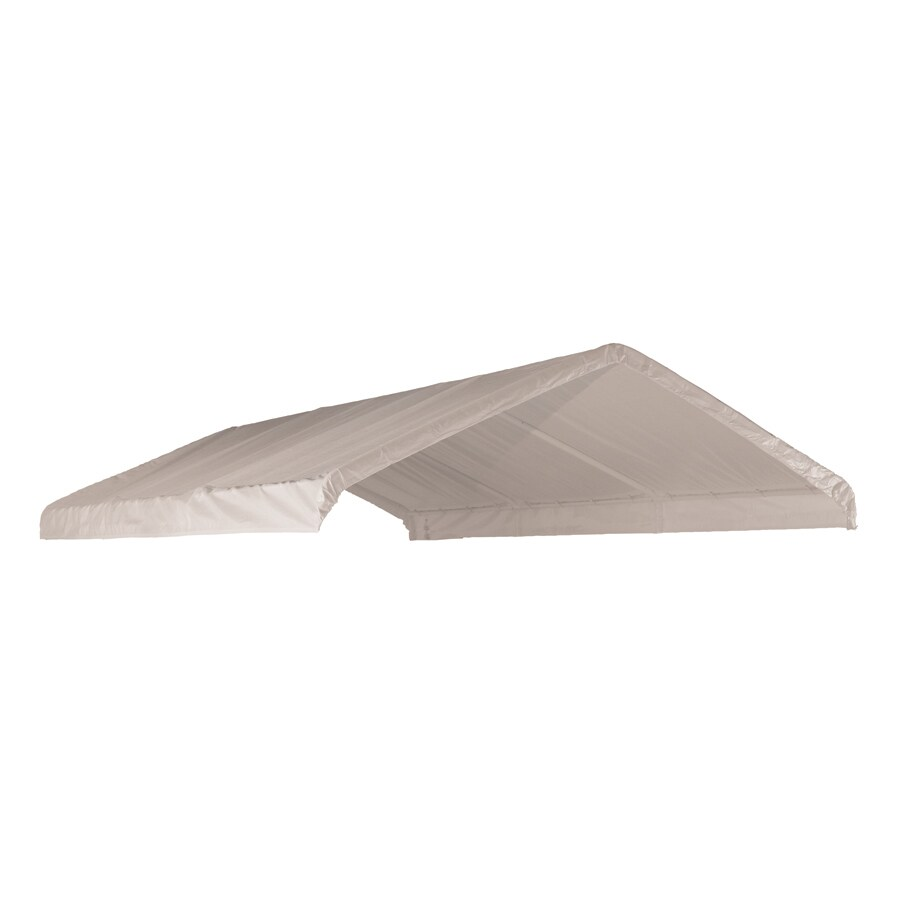 ShelterLogic White Replacement Canopy Top  sc 1 st  Loweu0027s : canopy top replacement - memphite.com