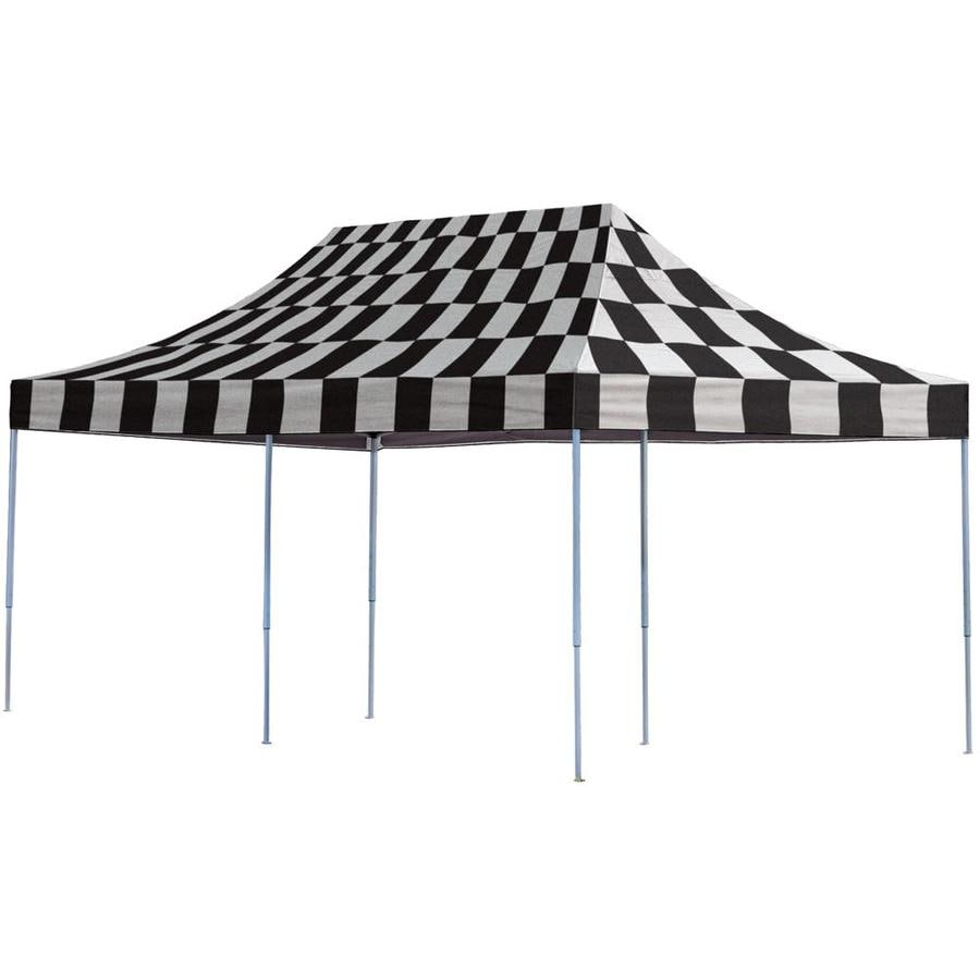 ShelterLogic 10-ft W x 20-ft L Rectangle Black/White Steel Pop-Up Canopy