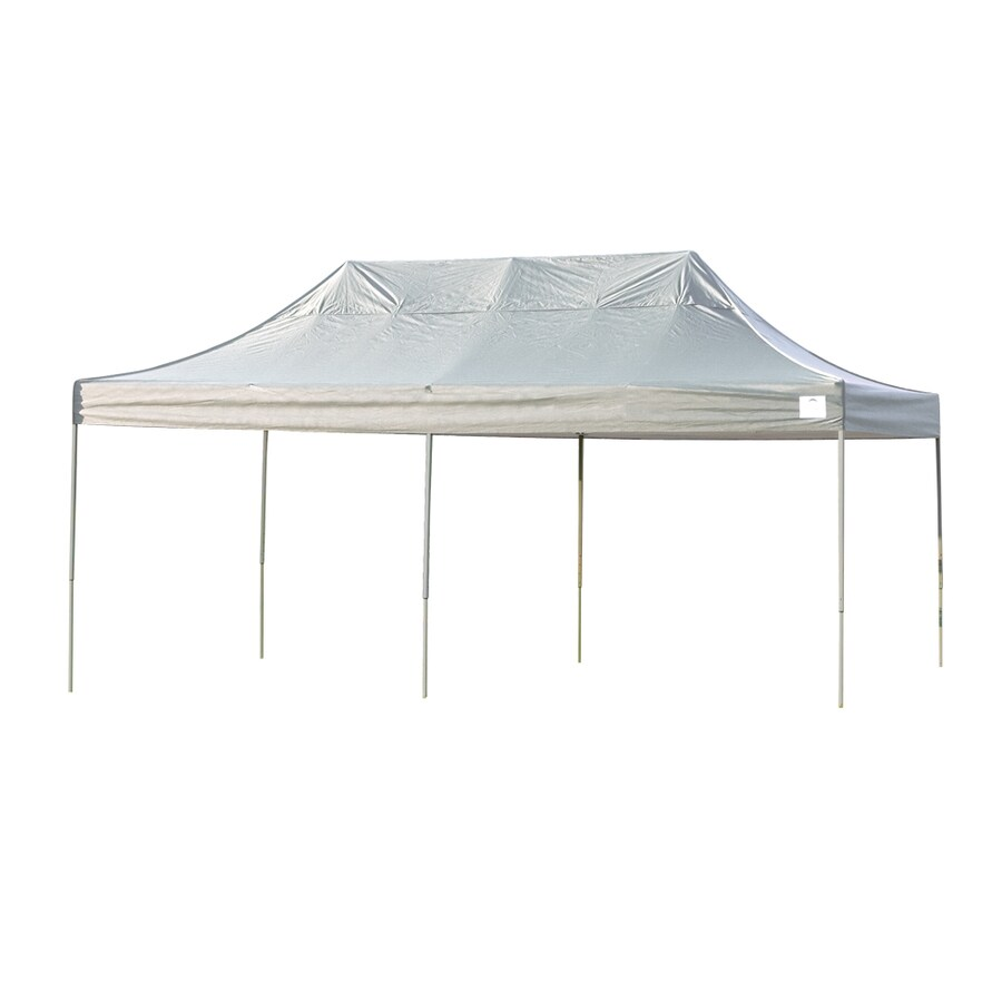 ShelterLogic 10-ft W x 20-ft L Rectangle White Steel Pop-up Canopy