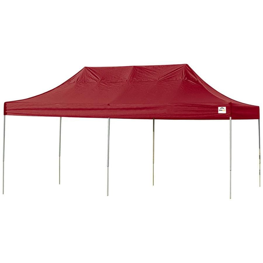 ShelterLogic 10-ft W x 20-ft L Rectangle Red Steel Pop-up Canopy