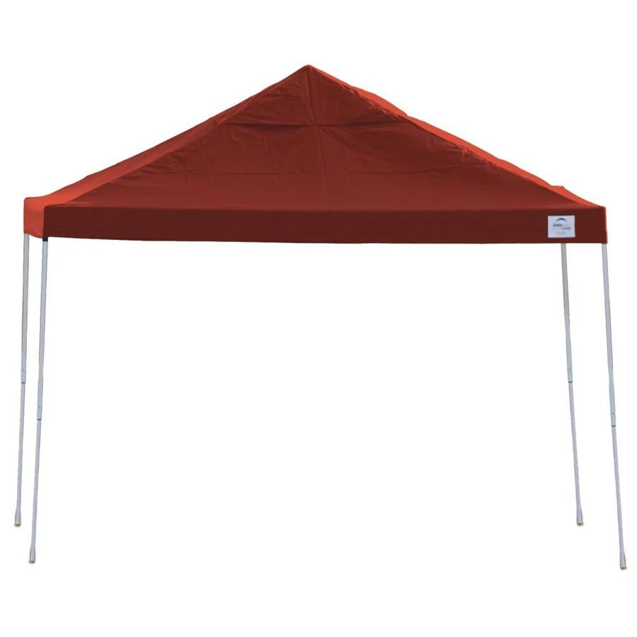 ShelterLogic 12-ft W x 12-ft L Square Red Steel Pop-up Canopy