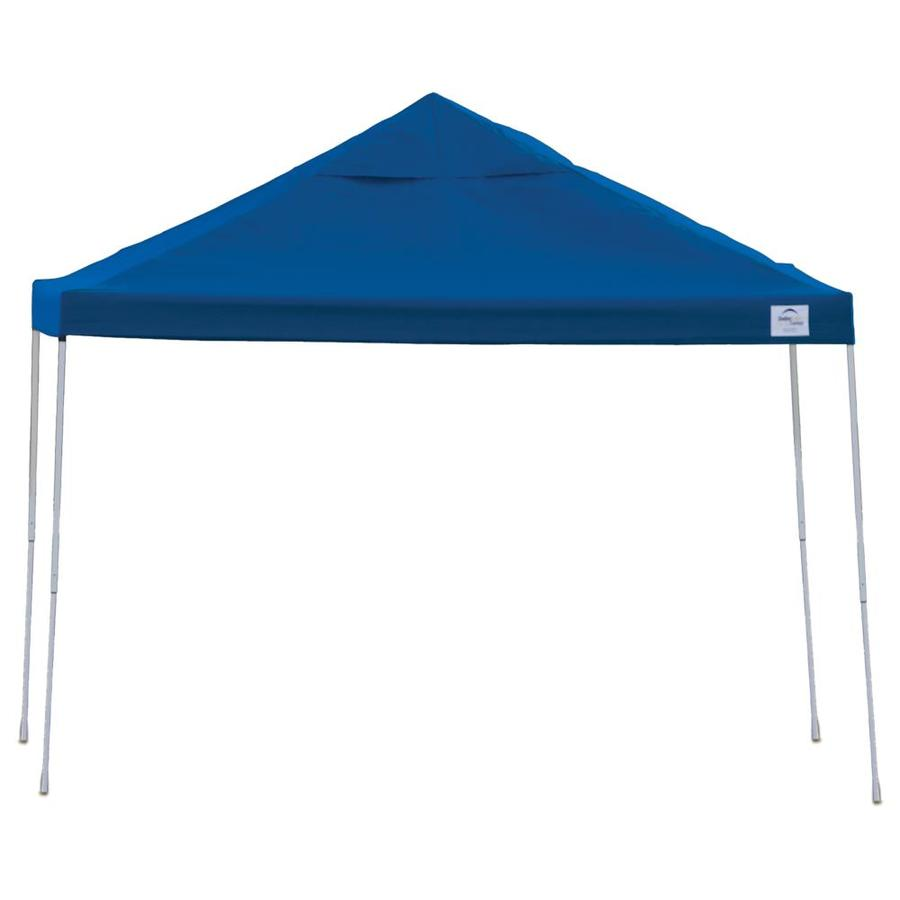 ShelterLogic 12-ft W x 12-ft L Square Blue Steel Pop-up Canopy