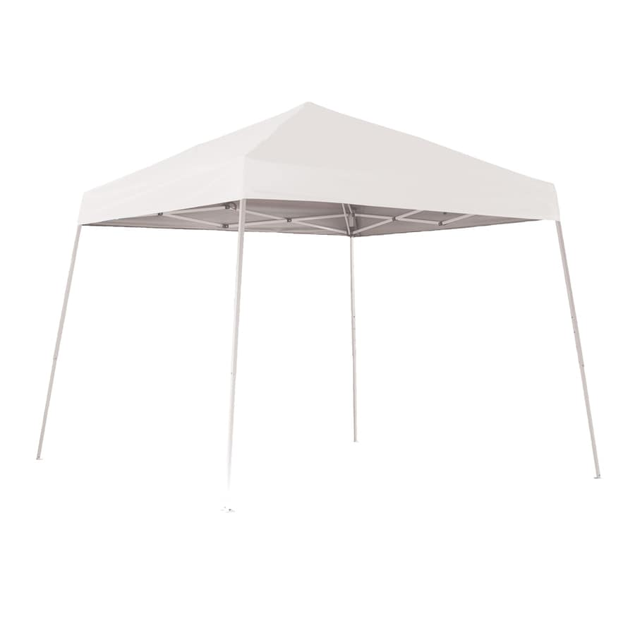 ShelterLogic Pop Up Canopy 12-ft W x 12-ft L Square White Steel Pop-up Canopy