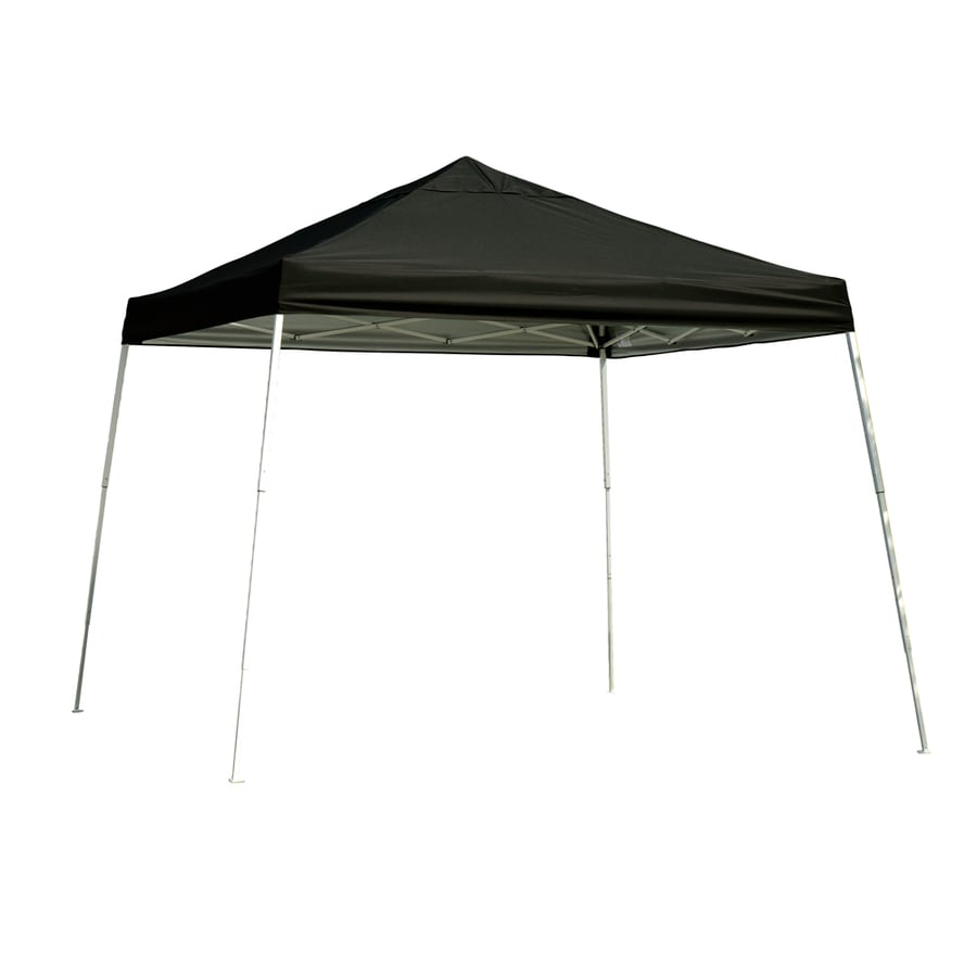 ShelterLogic Pop Up Canopy 12-ft W x 12-ft L Square Black Steel Pop-up Canopy