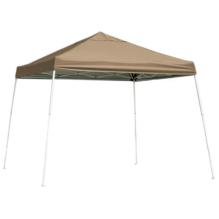ShelterLogic 12-ft W x 12-ft L Square Tan Steel Pop-Up Canopy